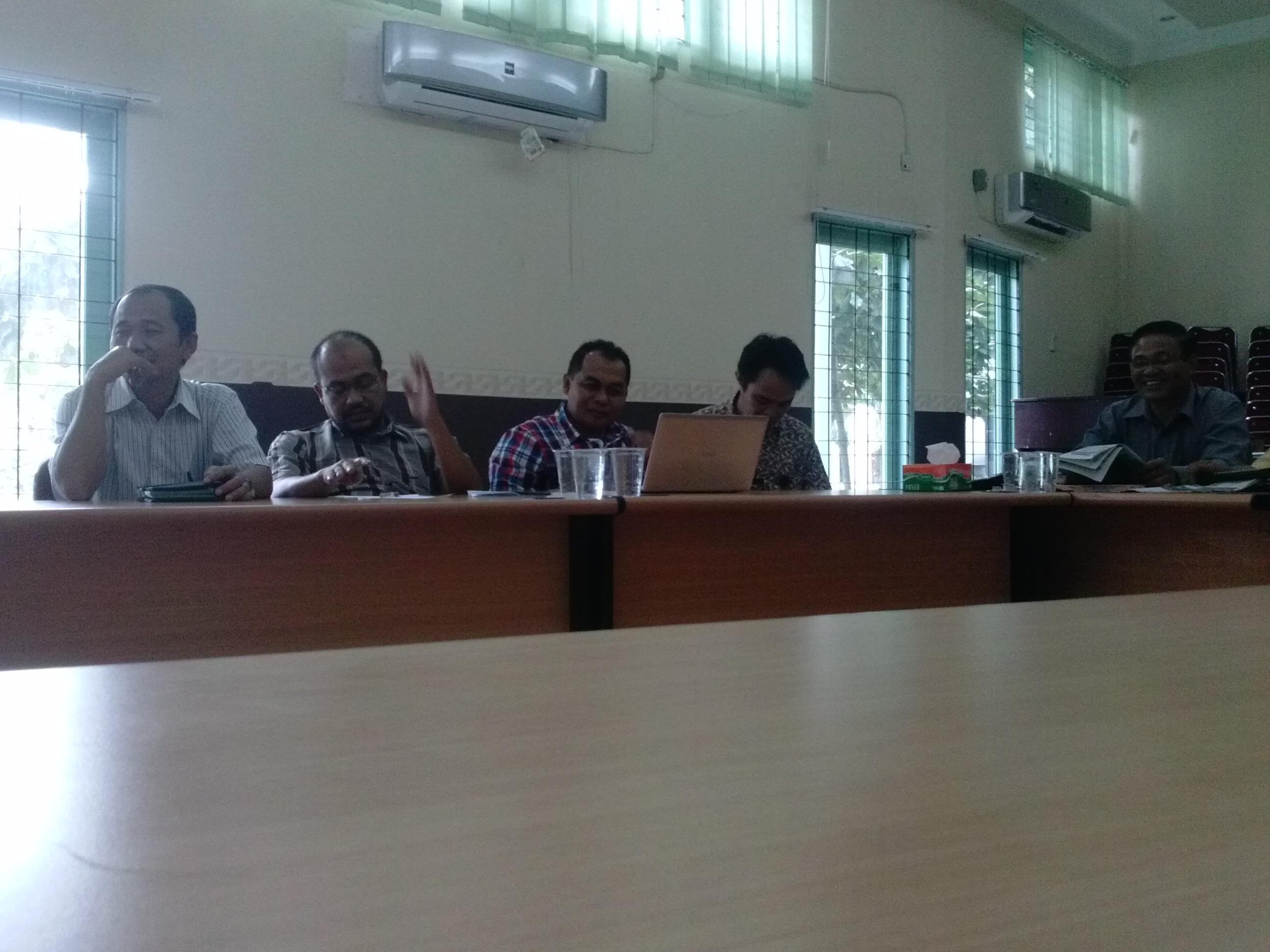 Rapat Senat FT-UR Periode Januari 2014