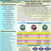 Call for Papers ICon EEI 2018